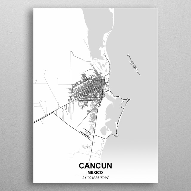 CANCUN  MEXICO metal poster