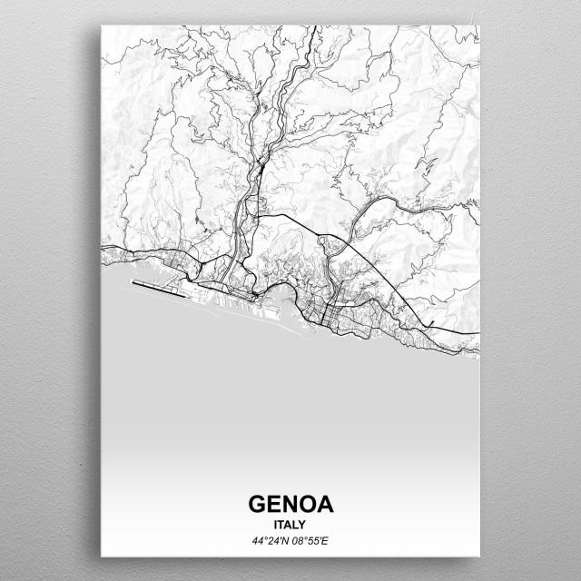 GENOA  ITALY metal poster