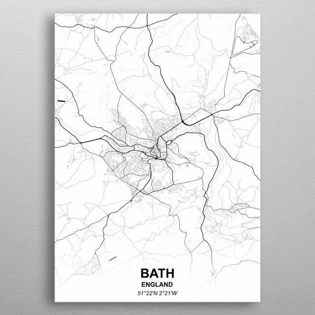 BATH  ENGLAND metal poster