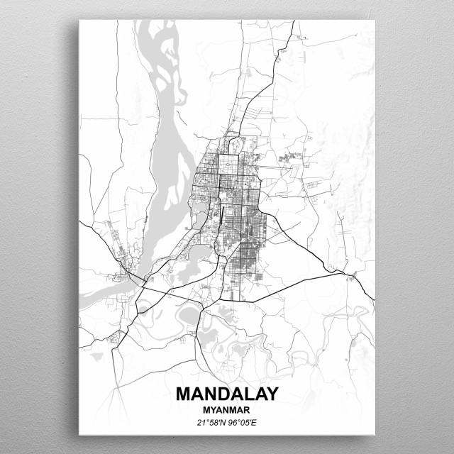 MANDALAY  MYANMAR metal poster