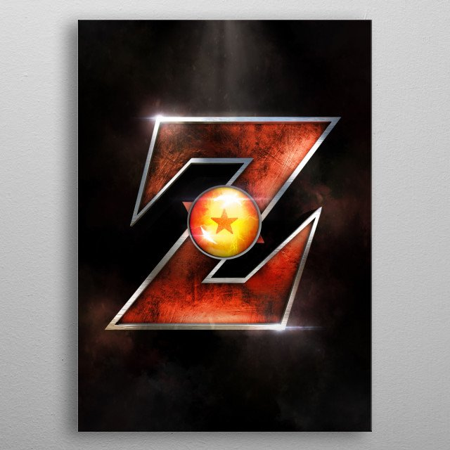 Dragon ball logo made in 3D. For the fans. metal poster