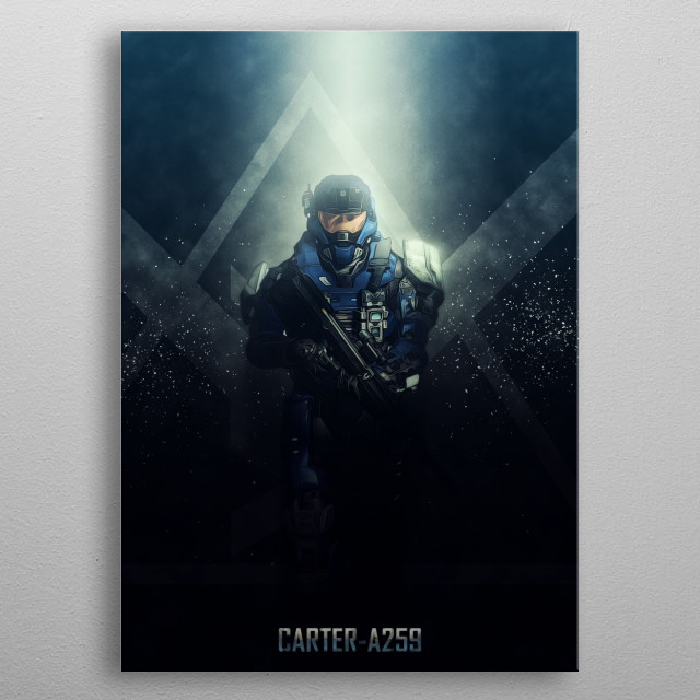Halo Reach - Remember Reach - Noble Team metal poster