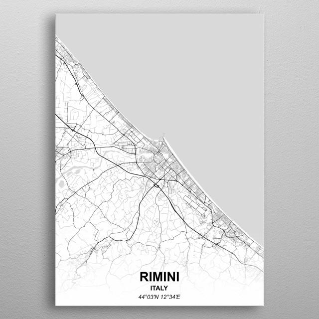 RIMINI  ITALY metal poster