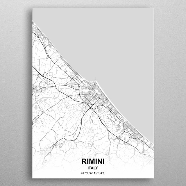 High-quality metal print from amazing City Maps Negative collection will bring unique style to your space and will show off your personality. metal poster
