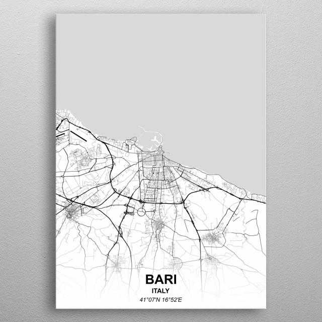 BARI  ITALY metal poster