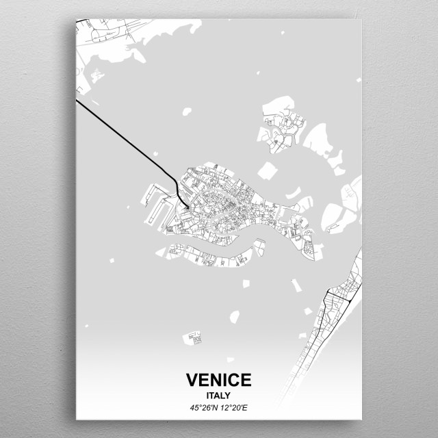 VENICE  ITALY metal poster