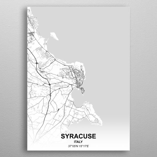 SYRACUSE  ITALY metal poster