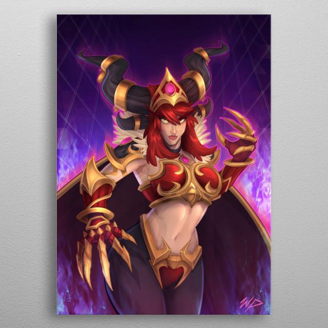 Game fan art metal poster