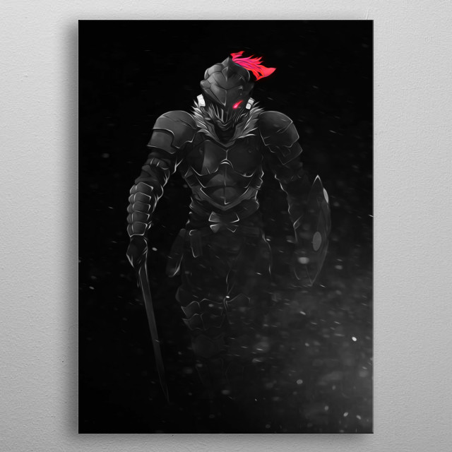 Goblin Slayer, or Orcbolg, from Goblin Slayer metal poster