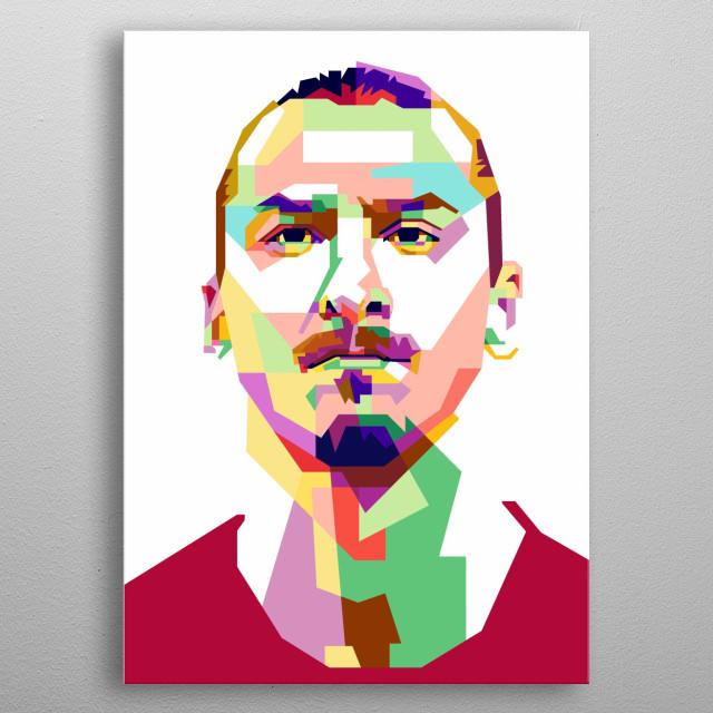 Zlatan Ibrahimovic Design Illustration in Wpap Style metal poster