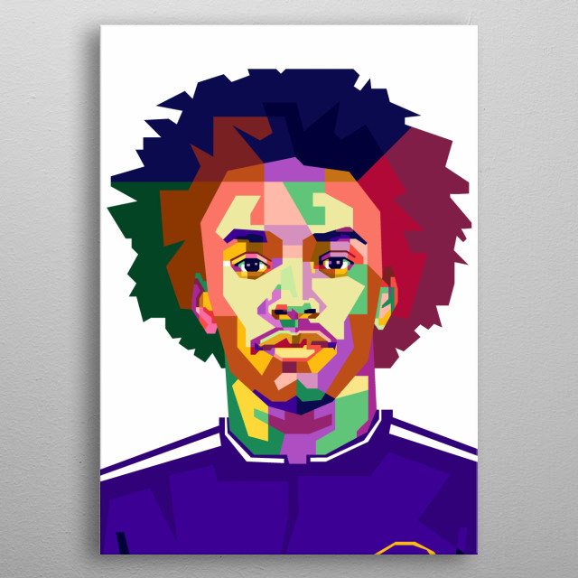Willian Borges da Silva Design Illustration in Wpap Style metal poster