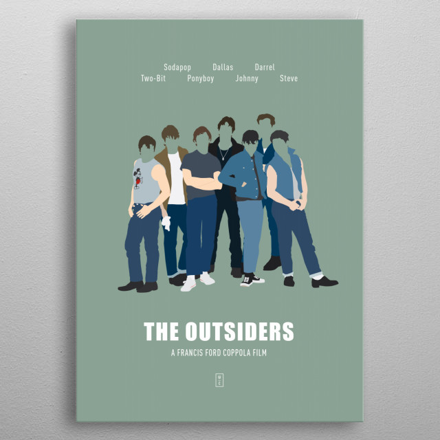 The Outsiders - Minimalist Movie Poster metal poster