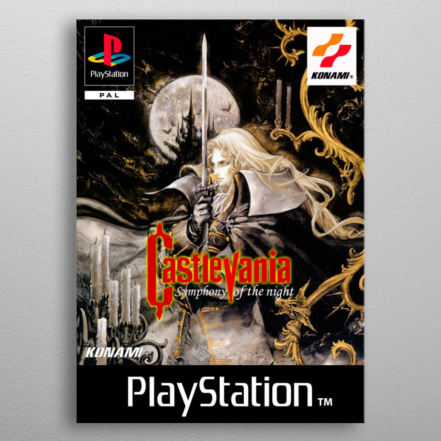 Castlevania Symphony of the night cover. metal poster