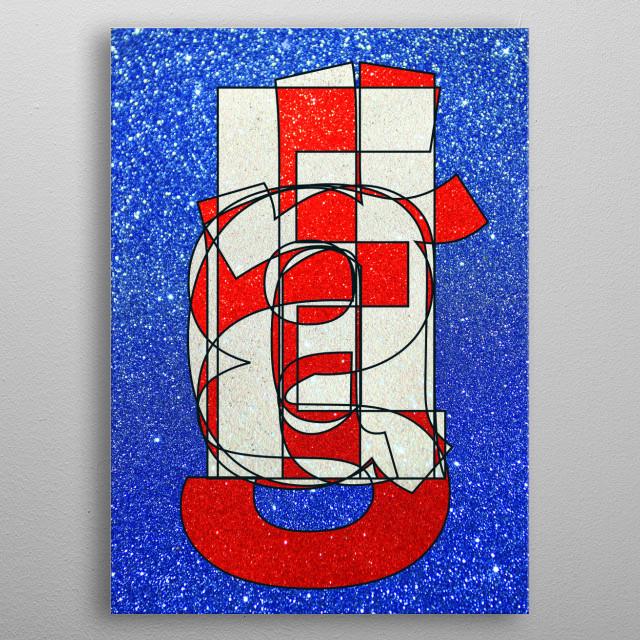 ENGLAND – Glitter Frankenberg TypoWorks © Frankenberg 2016 England, Red, white, Glitter, London, Great Britain, Britain, English, Football... metal poster