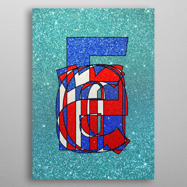 France – Glitter Frankenberg TypoWorks © Frankenberg 2016 France, french, Blue, white, red, Glitter, Paris, Atlantic, love, l'amor, eiff... metal poster