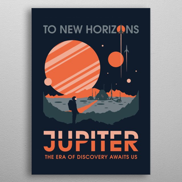 To New Horizons metal poster