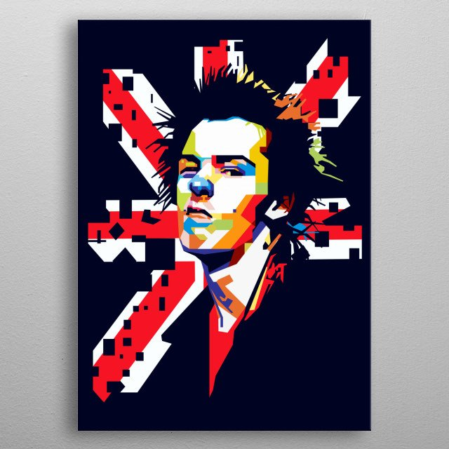 Sid Vicious in WPAP Art metal poster