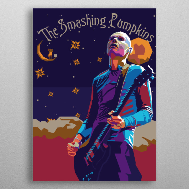 Billy Corgan in Wpap Art metal poster