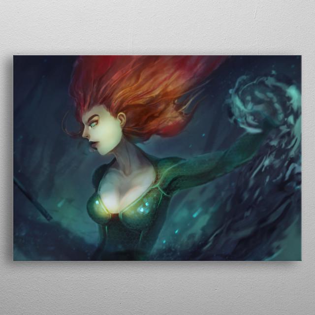 Fanart of Mera from Aquaman metal poster