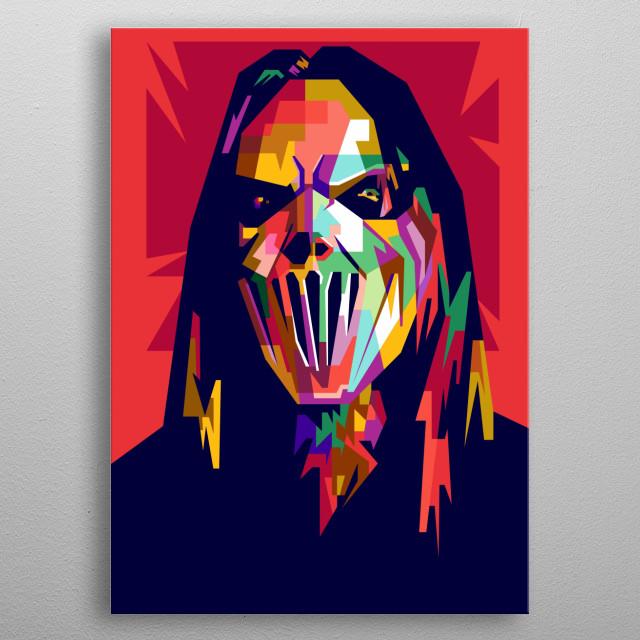 Mick Thomson Design Illustration in Wpap Style metal poster