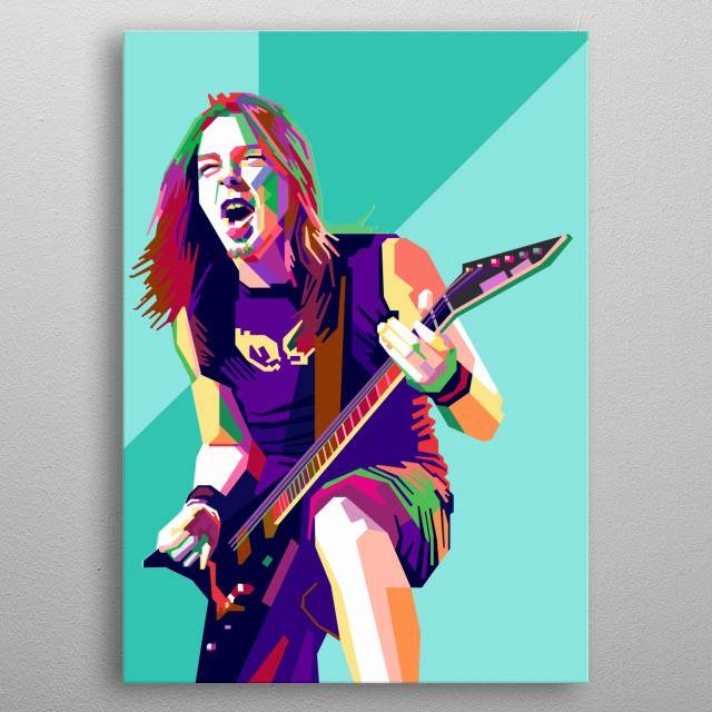 Michael Padge Design Illustration in Wpap Style metal poster