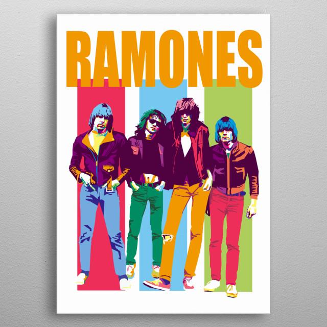 Ramones in WPAP Art metal poster