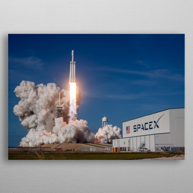 Falcon Heavy Launch. metal poster