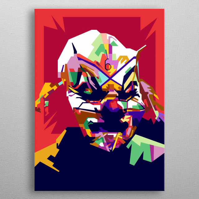 Shawn Crahan Design Illustration in Wpap Style metal poster