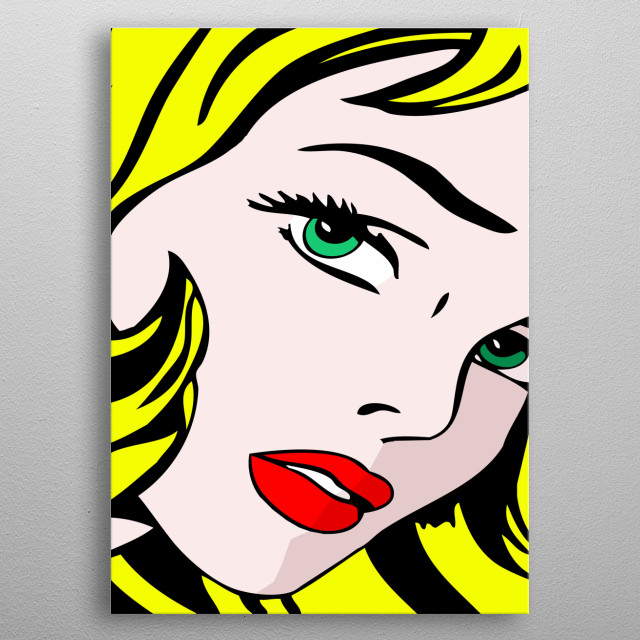 Inspired by the work of Jack Kirby, Russ Heath, Tony Abruzzo, Irv Novick, and Jerry Grandenetti, and Roy Lichtenstein metal poster