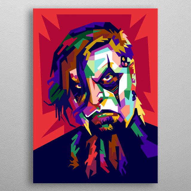 James Root Design Illustration in Wpap Style metal poster
