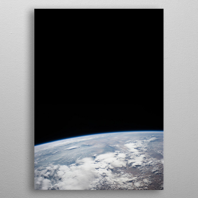 Edge of Earth metal poster