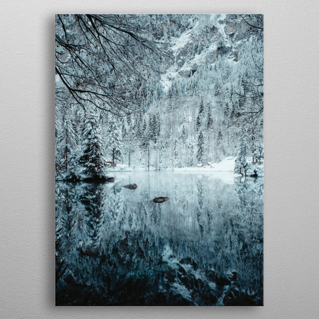 The Winter Reflection metal poster