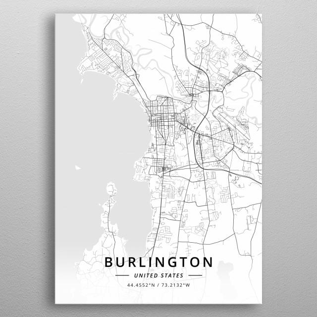Burlington, United States metal poster