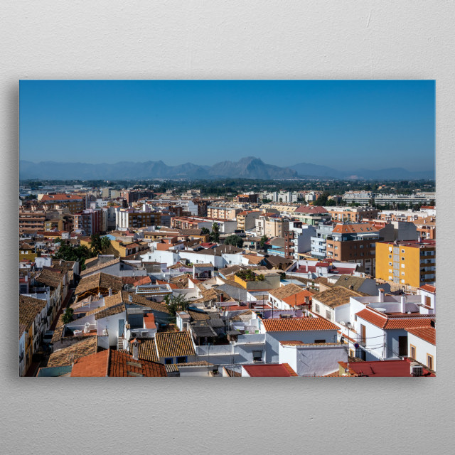 Spanish town Denia metal poster