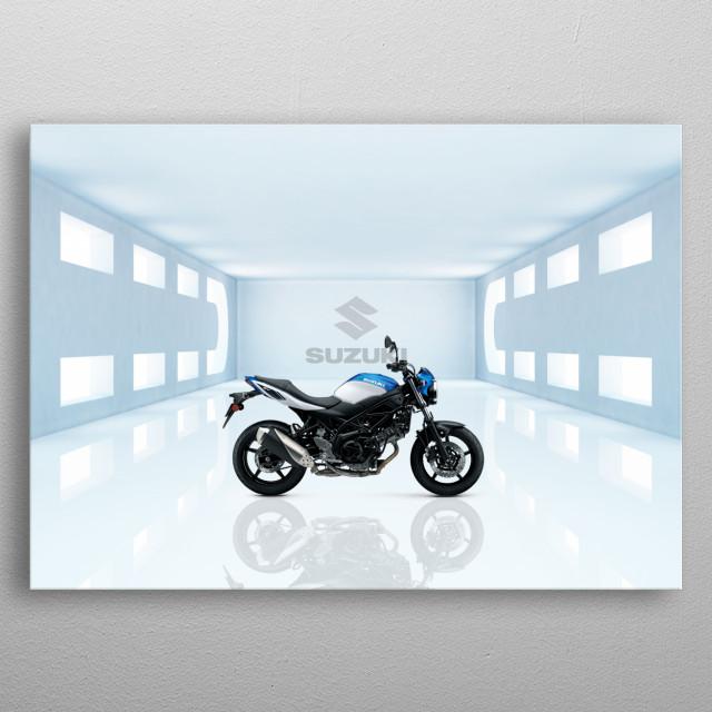 Suzuki SV650 Motorbike metal poster