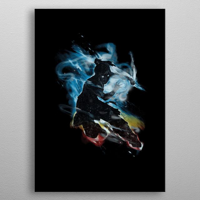 avatar korra dancing with elements metal poster