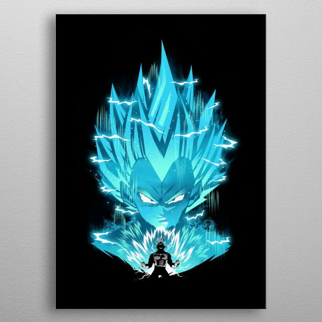 Super Saiyan Blue metal poster