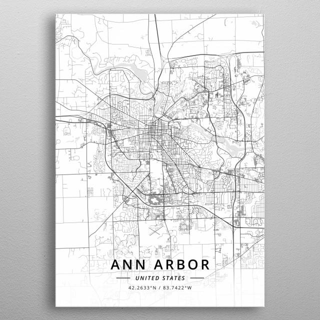 Ann Arbor, United States metal poster