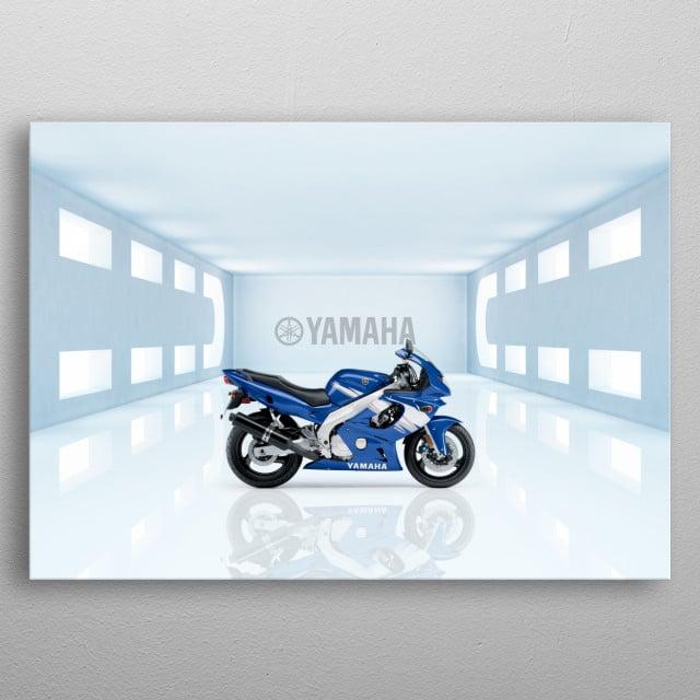 Yamaha YZF 600R Superbike metal poster