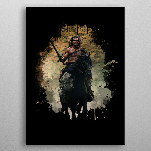 Conan the Barbarian (Jason Momoa) metal poster