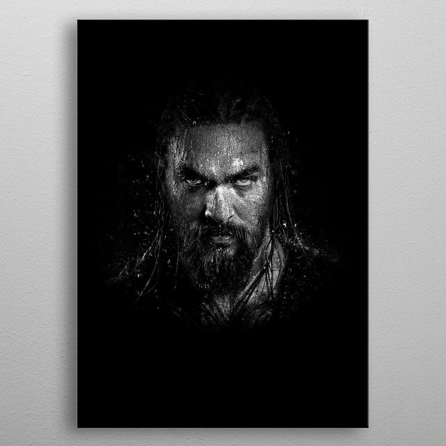 Jason Momoa Portrait metal poster
