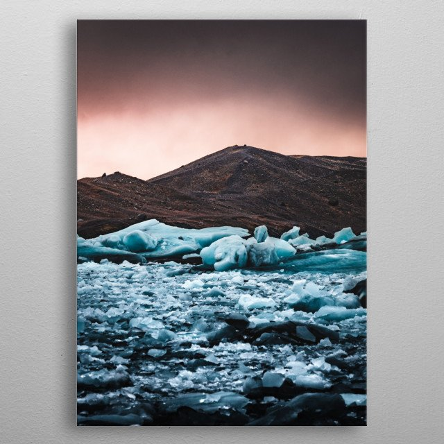 Dramatic Photograph of the Glaciers in Iceland metal poster