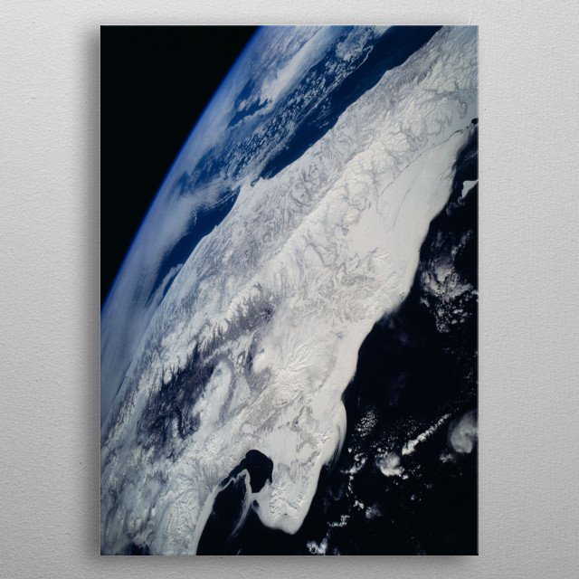 Above Earth metal poster