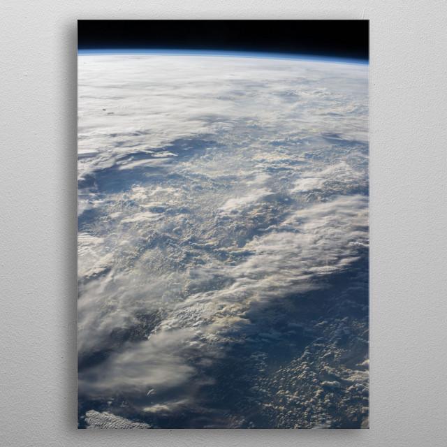 Edge of Earth metal poster