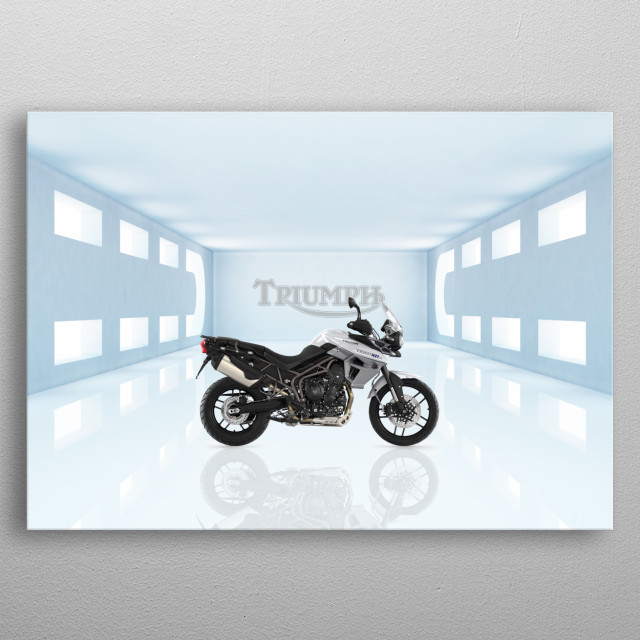 Triumph Tiger Motorbike metal poster