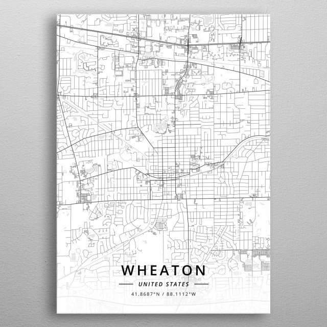 Wheaton, United States metal poster