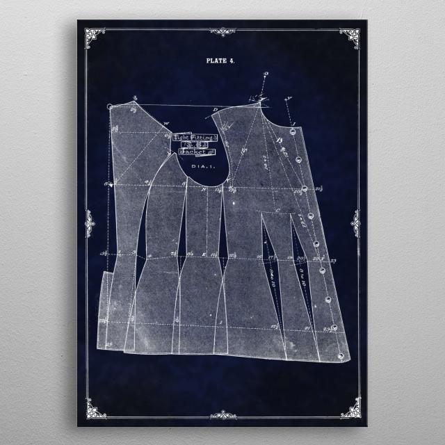 Vintage Sewing Pattern metal poster