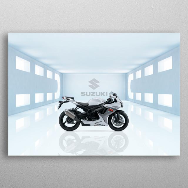 Suzuki GSXR600 Motorbike metal poster