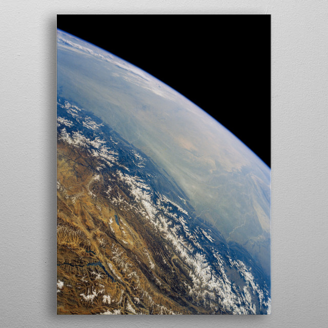 Edge of Earth. metal poster