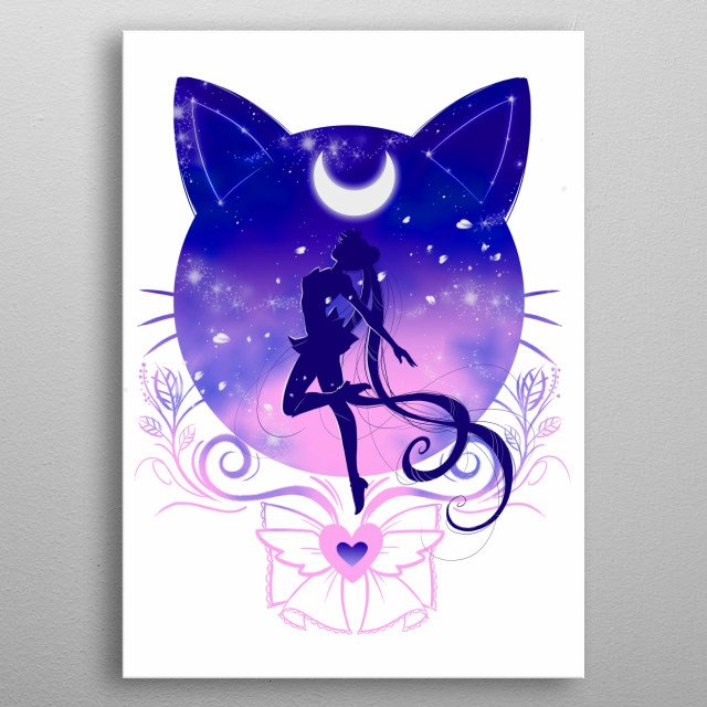 Sailor Moon inspired design. metal poster